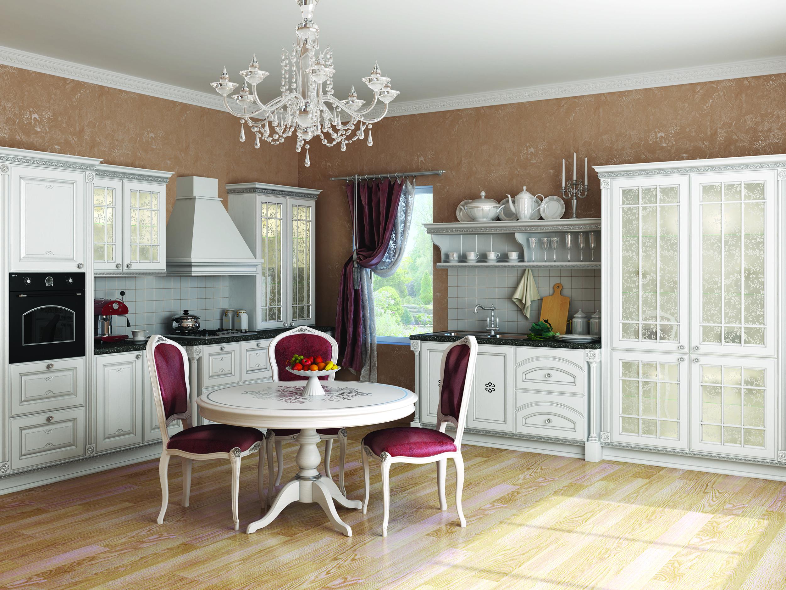Белая кухонная мебель фото