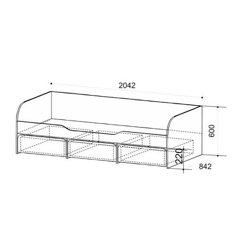 Кровать Детская «Сити 4.1″ (вишня)