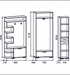 Прихожая  «Виза-14″ ( шкаф)