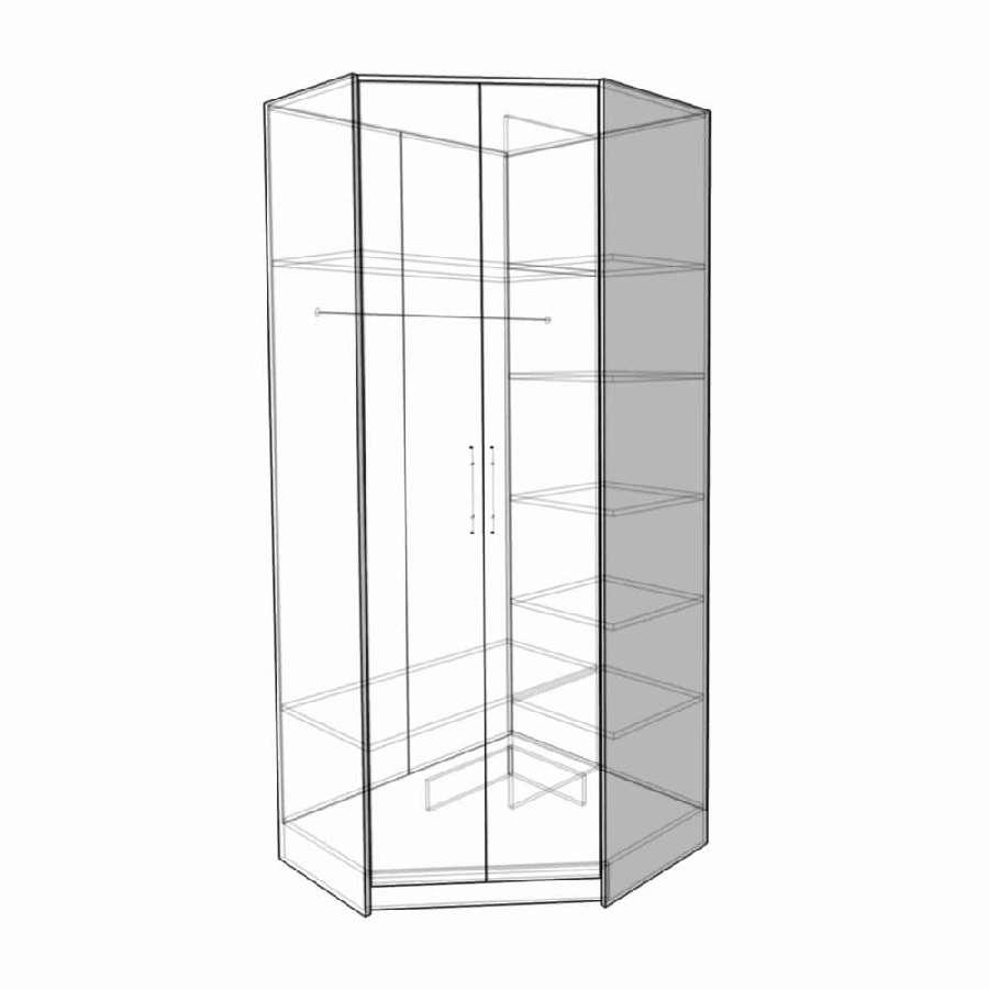 Шкаф угловой КБШ-01 ( веге/ дуб)