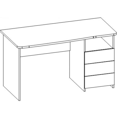 Стол письменный 52.13: 1350*670*750 мм. - бизнес-мебель, офи.