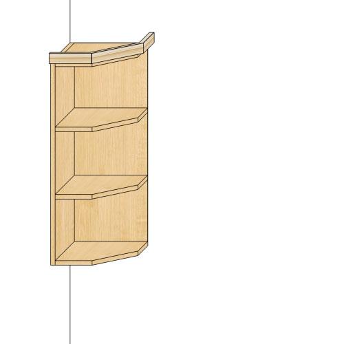 Шкаф торцевой универсальный Глория-3