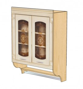 Шкаф-витрина 80 с колоннами Глория-3