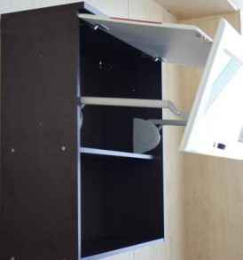 Кухня Оранж-9 Шкаф-витрина 80 с подъёмником ВИТРА
