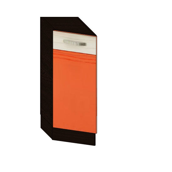 Стол 30 торцевой левый Оранж-9 ВИТРА