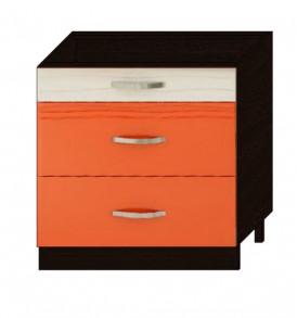 Стол 80 с 3-мя ящиками Оранж-9 ВИТРА