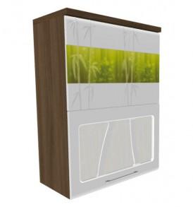 Шкаф-витрина с плавным закрыванием дверей 60 Тропикана-17