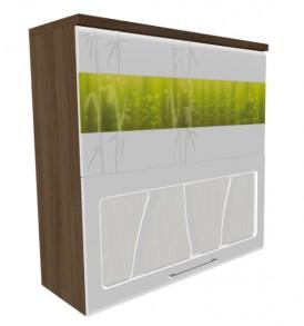 Шкаф-витрина с плавным закрыванием дверей 80 Тропикана-17