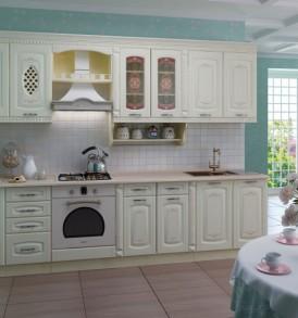 Кухня «Глория-3» Шкаф 80 витрина с колоннами