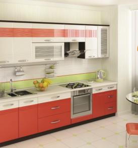 Кухня Оранж-9 Шкаф 40 витрина ВИТРА