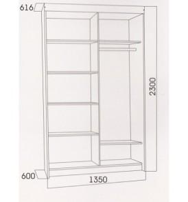 Шкаф купе №11 (1,35 м)