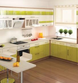 Кухня Тропикана 17 Стол 40 3 ящика с плавным закрыванием дверей