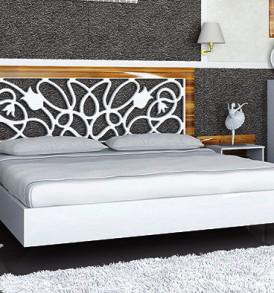 Кровать  «Лотос»1.60(МН 116-01)груша/белыйглянец