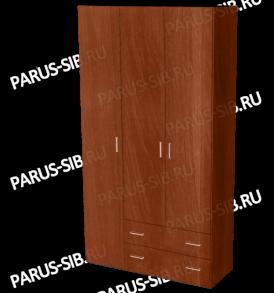 Шкаф «Пегас-3″ (орех)
