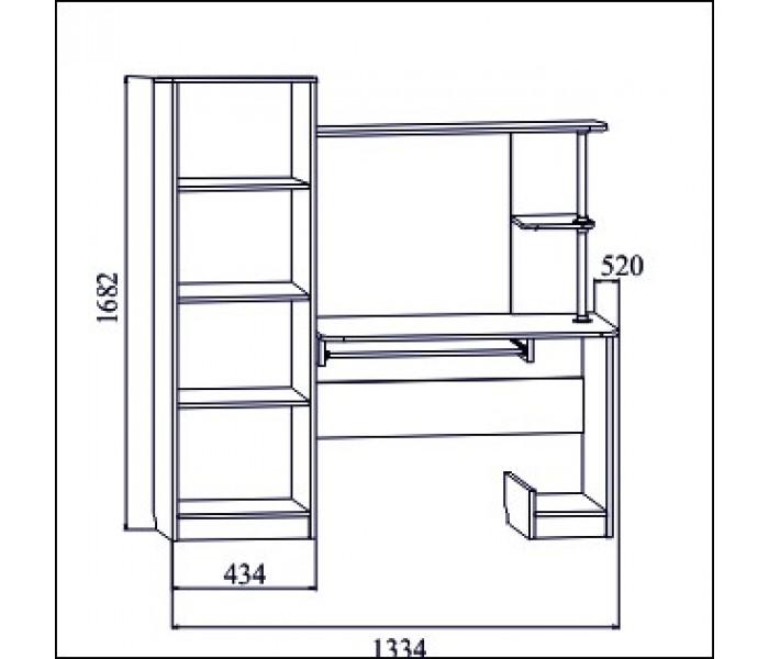 Стол Компьютерный №1  (венге/дуб)