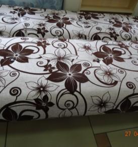 диван кровать «Соло»  (цветы на бежевом)