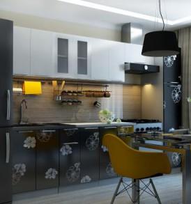 Кухня Грация 2,80 (МДФ глянец) с пеналом