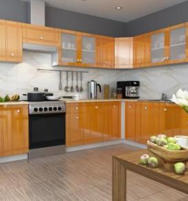 Кухня Сити шкаф 400 (ваниль)
