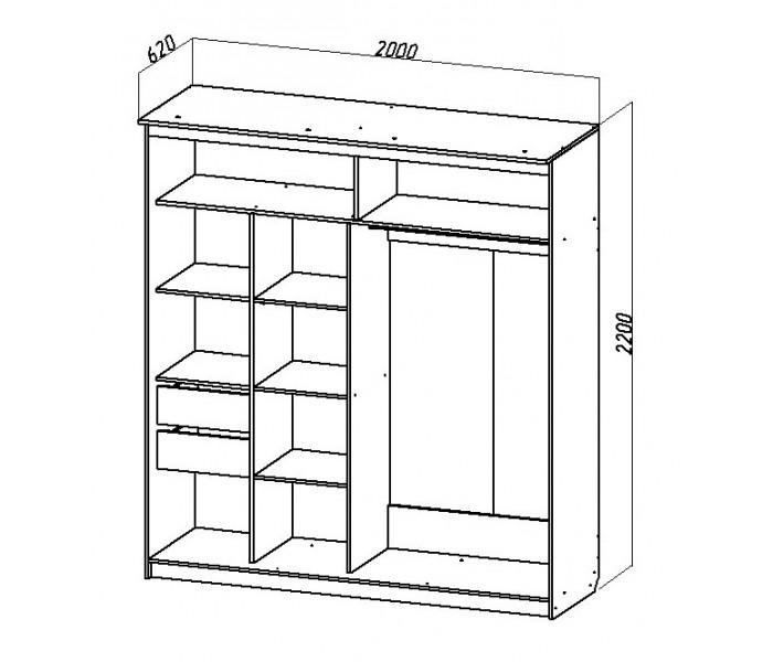 Шкаф купе № 15  2м  (венге)