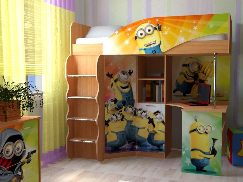 Набор мебели для детской  Набор «Миньоны»