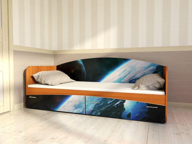 """Кровать для детской  КР1 """"Трансформеры"""""""