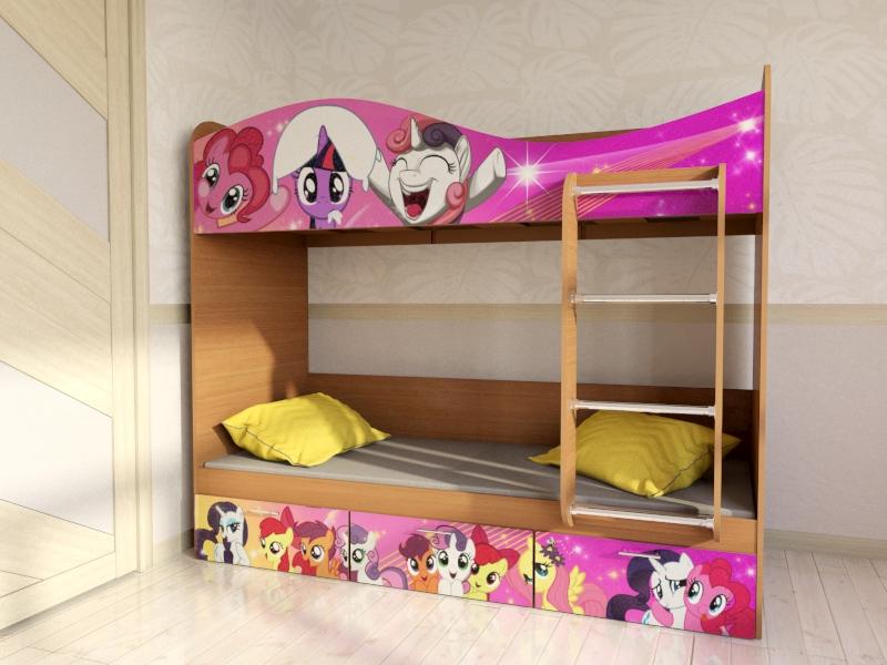 """Кровать для детской  КР5 """"Пони"""""""