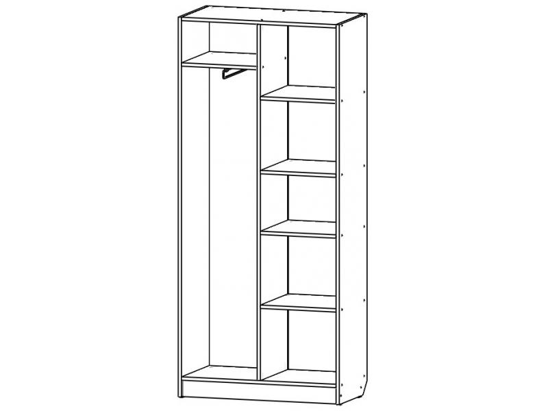 Шкаф для детской  «Рапунцель»
