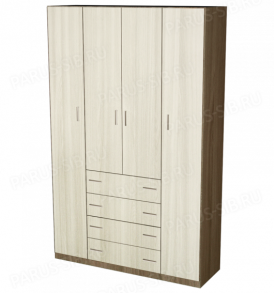 Шкаф  «Пегас-4″ (венге/дуб)