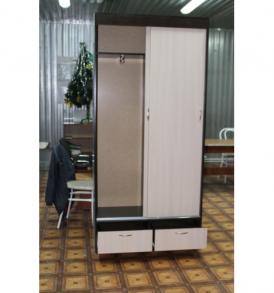 Шкаф «Пегас-купе» 900 с ящикам (венге/ дуб)