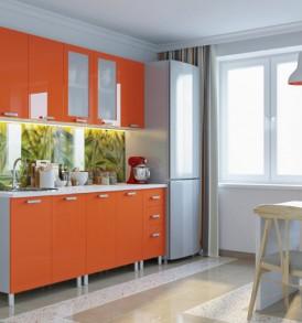 Кухня Премьера Шкаф 400 (металлик глянцевый)