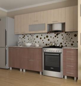Кухня «Марта-1.50″ (венге светлый)