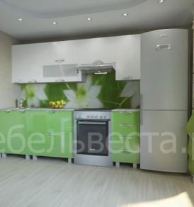 Кухня «Мадена-2.30*1.95 угловая  (белый/глинтвейн)
