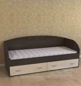 Кровать «Радуга» (венге/дуб выбеленный)