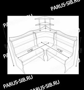 Кухонный уголок «Олимп-мини»(шимо/милк)