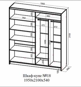 Шкаф-купе № 18  (1,95 м)
