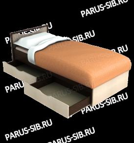Кровать «Соло» — 900 с ящиками (ольха)