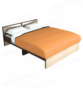 Кровать «Соло» -1400  без ящиков  (ясень шимо темный/ светлый)