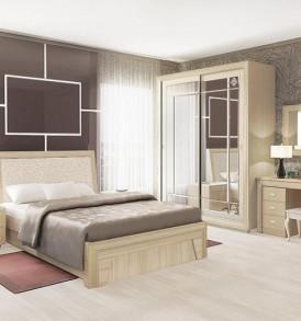 Модульная система  «Калипсо » Кровать №14 +ПМ»  (туя светлая)