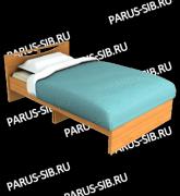 кровать соло 1200.ольха