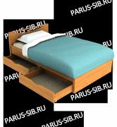 кровать соло 1200.с ящиками