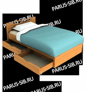 Кровать «Соло» -1200 с ящиками (шимо т/с)