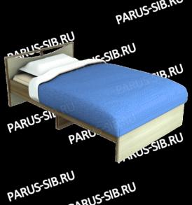 Кровать «Соло» -1200 без ящиков (венге/дуб)