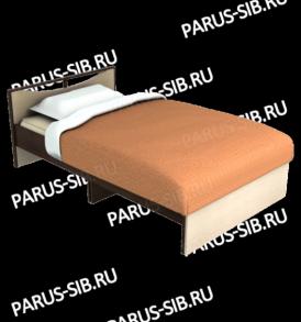 Кровать «Соло» — 800  (венге/ дуб) без ящиков