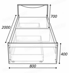 Кровать «Соло» — 800 без ящиков  (шимо т/с)