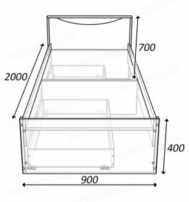 Кровать «Соло» — 900 без ящиков ( ольха)