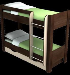школьник 2-х ярусная кровать