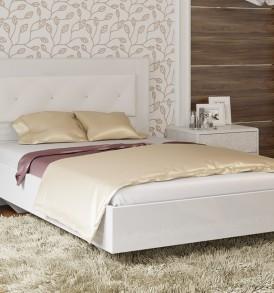 Кровать 1200 с мягкой спинкой «Амели» СМ-193.03.001