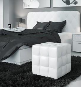 Двуспальная подъемная кровать с мягкой спинкой «Амели» СМ-193.01.004