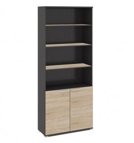 Шкаф для документов с нишей и 2-мя дверями «Успех-2» ПМ-184.16