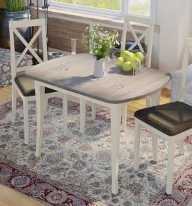Стол обеденный раздвижной на деревянных ножках «Альт» СМ (Б)-101.01.12(1)